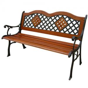 Cast Iron Benches with Insert Wood