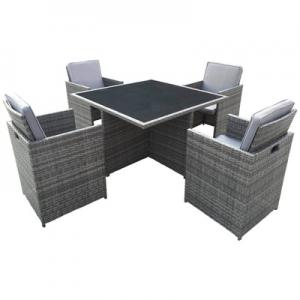 GAE3608 Aluminum Rattan Chair Set
