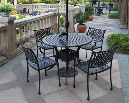 Cast Aluminum Tables And Chairs